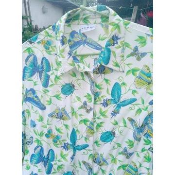 Koszula z krótkim rękawem w motyle 48/50