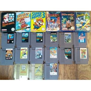 21 szt gier Nintendo NES - likwidacja kolekcji