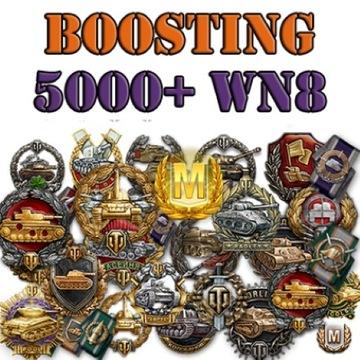 World of Tanks WOT boost wn8/dmg,odznaki MoE,misje
