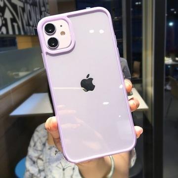 Przezroczyste Etui(Fioletowy) -iPhone 12pro-HIT!!!
