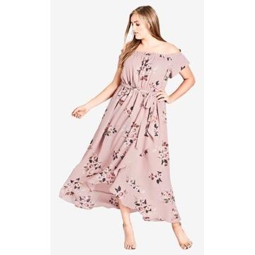 Sukienka City Chic plus size maxi Zalando Asos