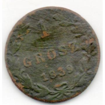 KRÓLESTWO POLSKIE 1 GROSZ 1839
