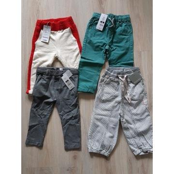 Nowe spodnie 86 zestaw 4szt Mango Cool Club Minymo