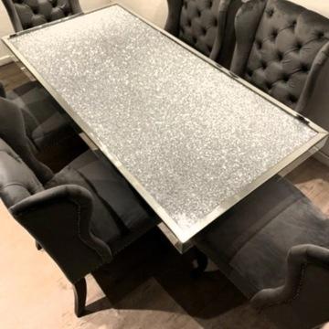 Nowoczesny STÓŁ ława stolik kawowy GLAMOUR lustro