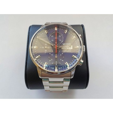 Zegarek Mido Commander II Chronograph, granatowy
