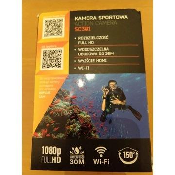 Kamerka sportowa full HD wodoodporna + akcesoria