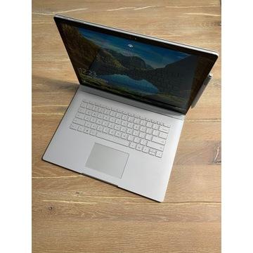 """Microsoft Surface Book 2 15"""" i7 1TB z ekr. dotyk."""