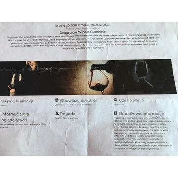 Voucher prezentowy na degustację wina w ciemności