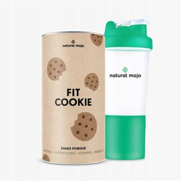 NATURAL MOJO FIT SHAKE-Zestaw Fit Cookie+ shaker