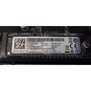 Dysk SSD LENOVO SSS0L25090 00UP471 512GB M.2 NVMe