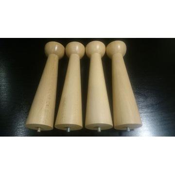Nóżki bukowe lakierowane 23 cm