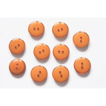 Guziki pomarańczowy, 22mm, 10szt