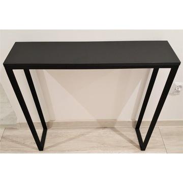 Konsola,stolik,półka,toaletka CZARNY MAT 80x20X80