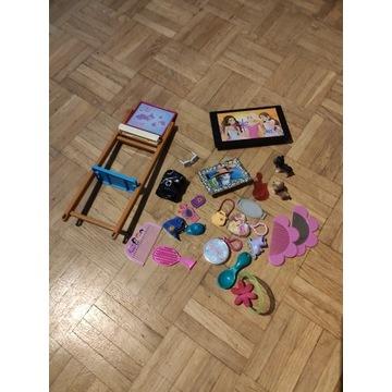 Akcesoria dla Barbie + laleczka chłopczyk