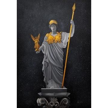Tryptyk Atena, Hermes, Urania, Antyk, Obraz