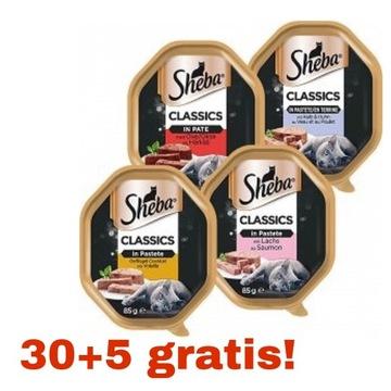 Sheba Classic 30+5/85g mix smaków  karma dla kota