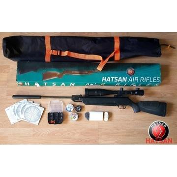 Wiatrówka Hatsan70S +Tłumik/Luneta 6-24x50/Futerał