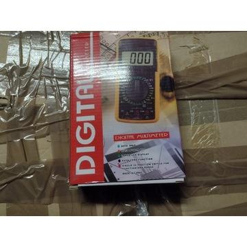 MIERNIK LCD MULTIMETR z temperaturą DT9208A nowy