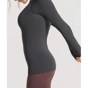 Gymshark bluzka sportowa damska z długim rękawem