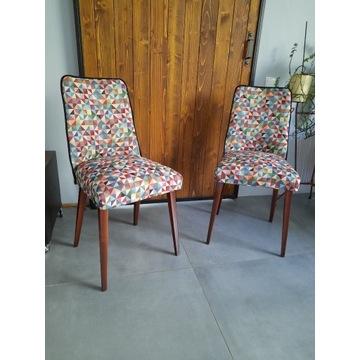 Krzesła Muszelki PRL