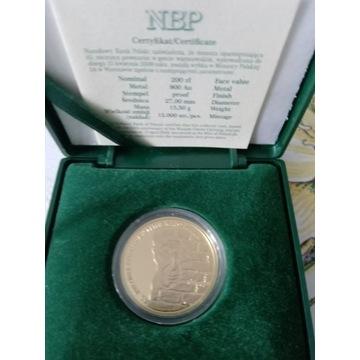 Złota moneta NBP-200 zł