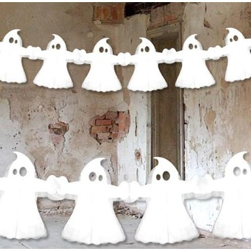 Girlanda Papierowa Duchy    Dekoracje   Halloween