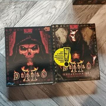 Diablo II + dodatek BOXY!!! NIEOTWARTA PODKŁADKA