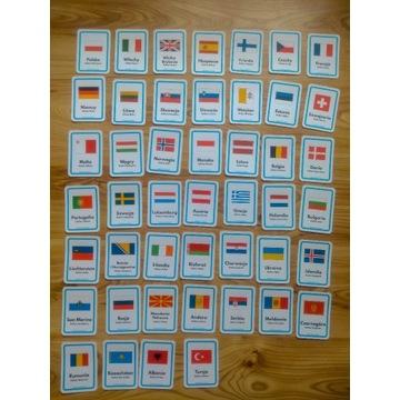 Plansze edukacyjne - Flagi państw wraz z stolicami