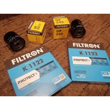 Filtry oleju i kabinowe FILTRON 4szt. komplet