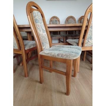 Stół dębowy z 12 krzesłami