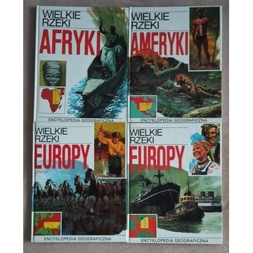 Wielkie rzeki Europy Ameryki Afryki 4 albumy 4 szt