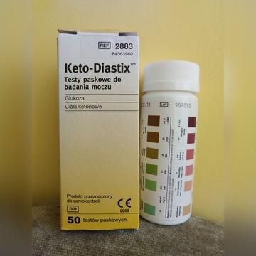 KETO-DIASTIX TESTY PASKOWE DO BADANIA MOCZU KETOZA