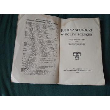 Juliusz Słowacki w Poezyi polskiej antologia poet.