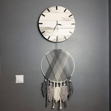 DiO Zegar ścienny z drewna handmade biały 38cm
