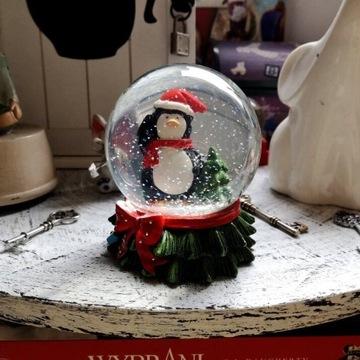 PINGWIN Figurka Świąteczna Kula Śniegowa