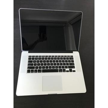 """MacBook Pro Retina 15"""" 2 ładowarki karta SD 256GB"""