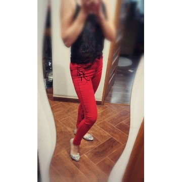 Spodnie jeansy d she rurki skinny 38 M dżety