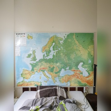 Mapa fizyczna europy rozwijana