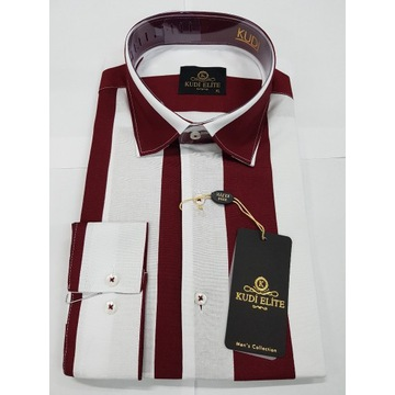 Męska koszula KUDI nowa XL casual SlimFit WESELE