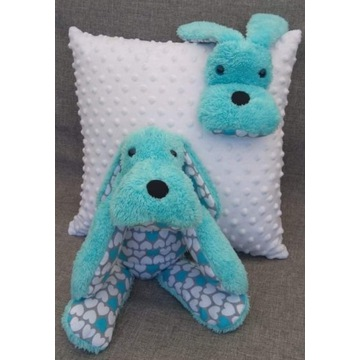 Przytulanka plus poduszka komplet hand Made piesek