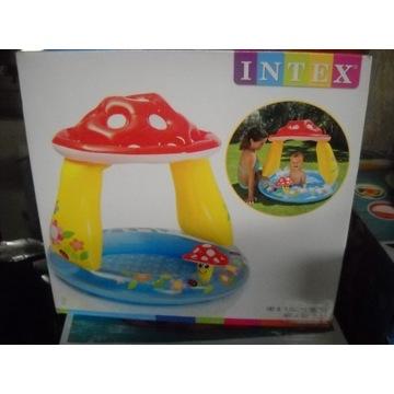 nowy dmuchany basen dla dzieci z daszkiem intex