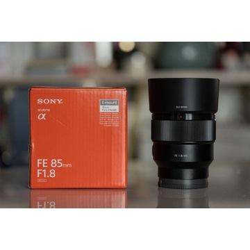 Sony FE 85mm F1.8 (SWL85F18) + gwarancja
