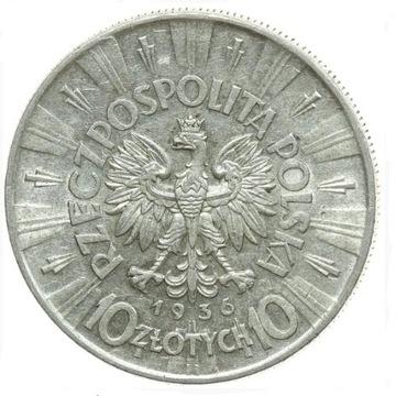 10 zł Piłsudski 1936 st. 2 ładne