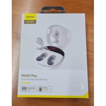 Słuchawki bezprzewodowe WM01Plus BaseusEncok BIAŁE