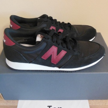 38 New Balance 420 Black / Burgundy U420BLK