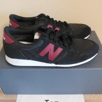 38 New Balance 420 Black / Burgundy U420BLK