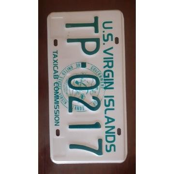 Virgin Islands tablica rejestracyjna usa