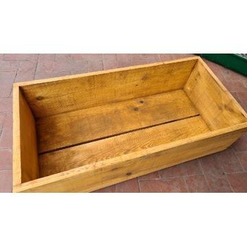 Skrzynka drewniana donica 80x40 do uprawy roślin
