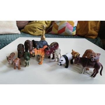Figurki zwierząt safari słoń lew żyrafa zabawki