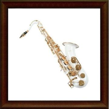 Saksofon tenorowy K.Glaser biały złote klapy M301